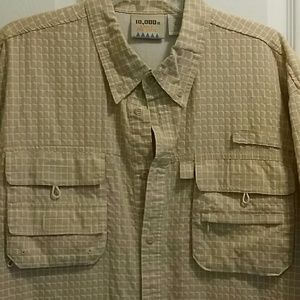 Fly-fishing shirt Vented with cool details Large